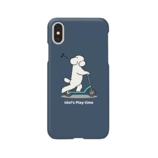 トイプー 1 白系(ネイビー) Smartphone cases