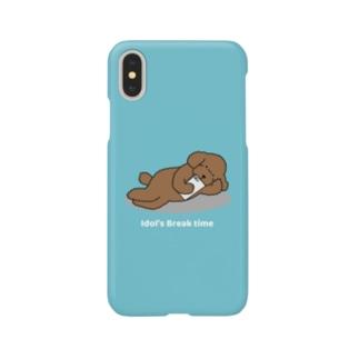 トイプー 2 赤系(ブルー) Smartphone cases