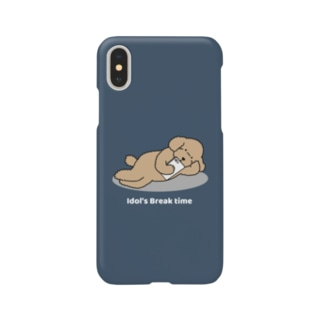 トイプー 2 アプリコット系(ネイビー) Smartphone cases