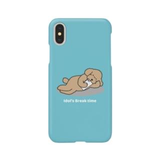 トイプー 2 アプリコット系(ブルー) Smartphone cases