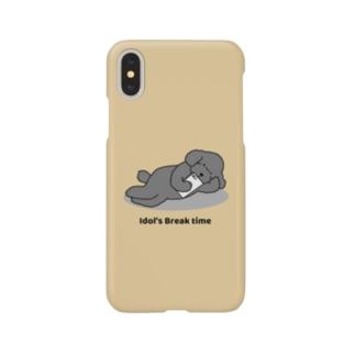トイプー 2 黒系(イエロー) Smartphone cases