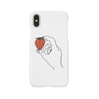 イチゴ狩り Smartphone cases
