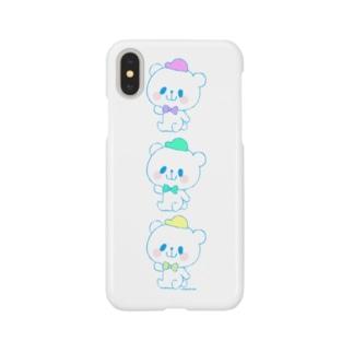 カラフルおやまくま3びき Smartphone cases