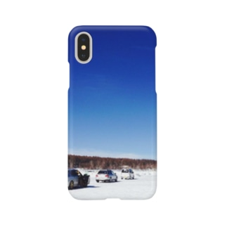 湖での走行会 Smartphone cases
