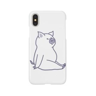 長座ぶた Smartphone cases