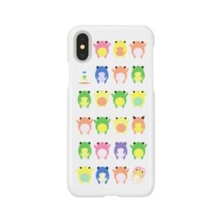 【iPhoneX/XS】カエルたんがたくさん Smartphone cases