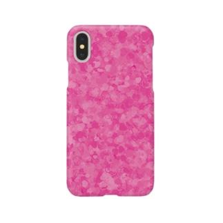 ピンクのハートいっぱい Smartphone cases
