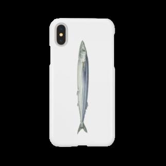 オハデザインのさんま Smartphone cases