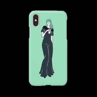 星野デザイン事務所のwoman_02【星野デザイン事務所】 Smartphone cases