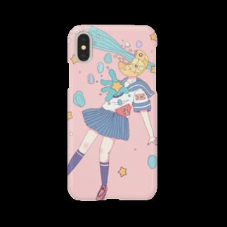 ③iyaoKa(ミヤオカ)です。🦒🌟🌃の「流れ星。」ケース Smartphone cases