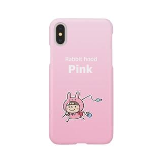 うさズキン(ピンク) Smartphone cases
