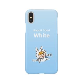 うさズキン(白) Smartphone cases