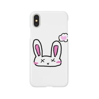 罰うさぎ(照れver) Smartphone cases