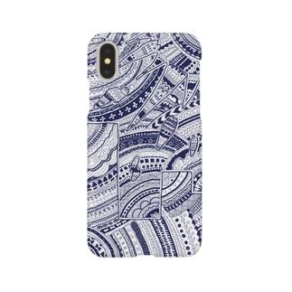 手描き柄がら Smartphone cases