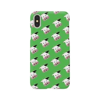 可愛い牛柄iphoneケース Smartphone cases