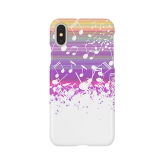 音符でできたiphoneケース(暖色) Smartphone cases