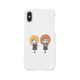アラサーの萌え漫画iPhoneXケース【みちるとえぐ美】 Smartphone cases