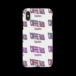 コーヒートークス COFFEE TALKSの80's 90's アメコミ風マルチロゴ  COFFEE BEANS BARISTA コーヒー豆 コーヒースタンド カフェ CAFE COFFEE STAND バリスタ Smartphone cases