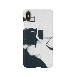 Art Baseのムンク / The Death Chamber / Edvard Munch / 1896 Smartphone cases