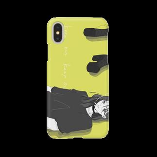 10moka_grmのkeep  out Smartphone cases