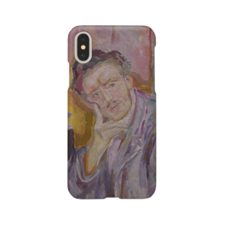 Art Baseのムンク / 1911 / Self-Portrait with Hand under Cheek / Edvard Munch Smartphone cases