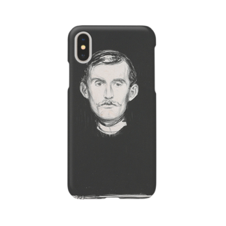 Art Baseのムンク / 1896 / Self-Portrait I / Edvard Munch Smartphone cases