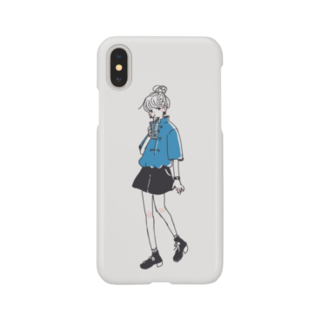 Go atの哎呀_青(blue) Smartphone cases