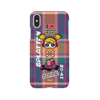 iPhoneケース『チェック柄』 スプラッたん Smartphone cases