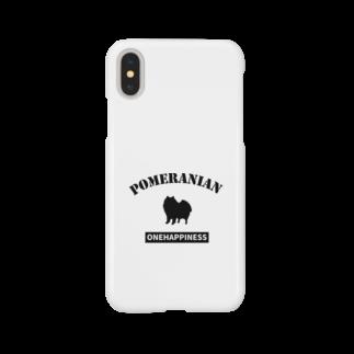 onehappinessのポメラニアン Smartphone cases