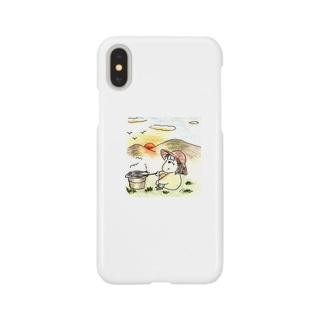みわぽん 秋刀魚焼くバージョン Smartphone cases