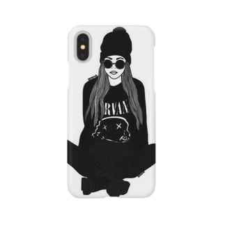 モノトーンガール Smartphone cases