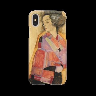 Art Baseのエゴン・シーレ / 1911 / The Daydreamer (Gerti Schiele) / Egon Schiele Smartphone cases