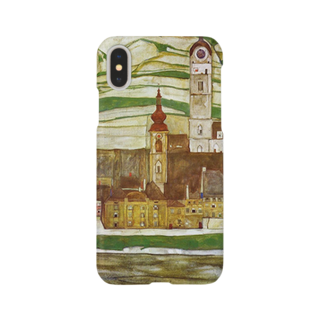 Art Baseのエゴン・シーレ / 1913 /Stein on the Danube, Seen from the South / Egon Schiele Smartphone cases