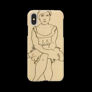 Art Baseのエゴン・シーレ / 1918 / Sitting Woman / Egon Schiele Smartphone cases