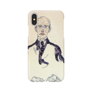 Art Baseのエゴン・シーレ / 1917 / Portrait of Karl Maylander / Egon Schiele Smartphone cases