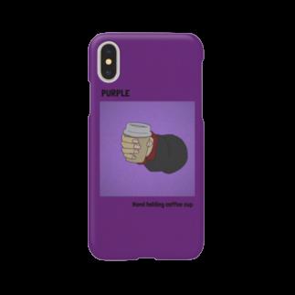 atelier_jhonのコーヒーカップを持つ手 スマホケース Smartphone cases