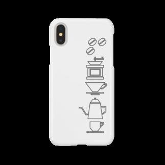 喫茶結社のコーヒータイム(黒) Smartphone cases