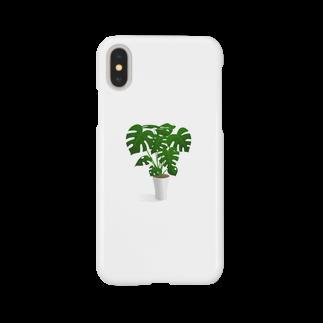 北川ともあき Onlineのモンステラ Smartphone cases