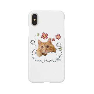 茶トラ猫みたらし ふわふわ Smartphone cases