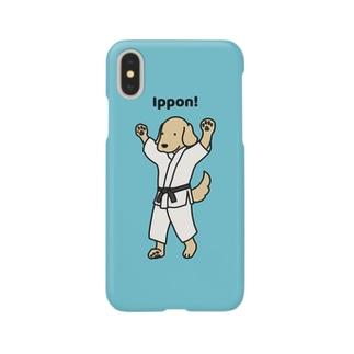 judo1(ブルー) Smartphone cases