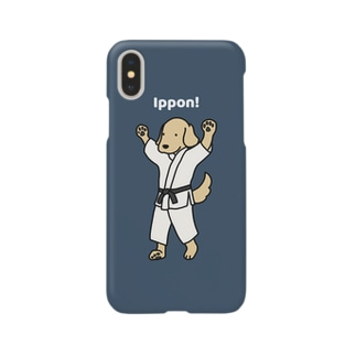 judo1(ネイビー) Smartphone cases