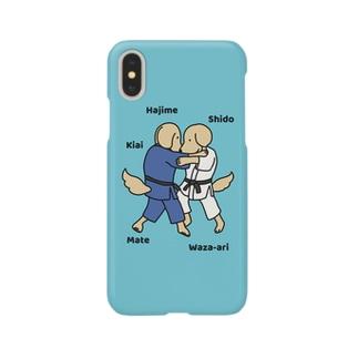 judo2(ブルー) Smartphone cases