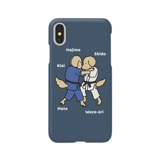 judo2(ネイビー) Smartphone cases