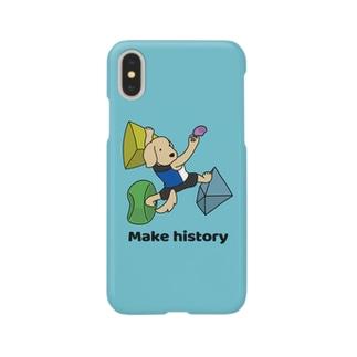 スポーツクライミング(ブルー) Smartphone cases