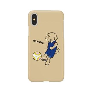 サッカー1(イエロー) Smartphone cases