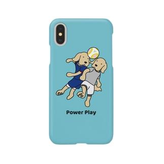 サッカー2(ブルー) Smartphone cases