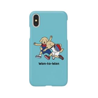バスケット1(ブルー) Smartphone cases