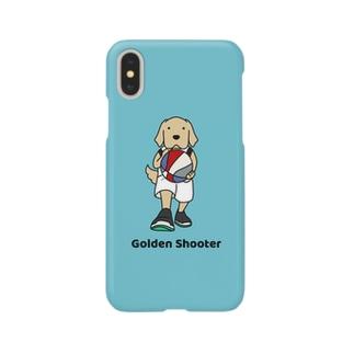 バスケット2(ブルー) Smartphone cases