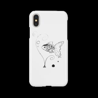 _o_sa_ka_naの金魚子 Smartphone cases