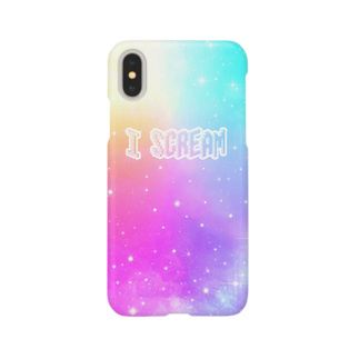 DOLUXCHIC RAYLOのI Scream Universe Pale Rainbow Smartphone cases